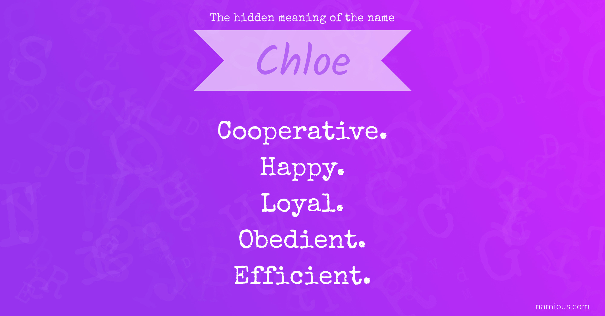 The hidden meaning of the name Chloe | Namious
