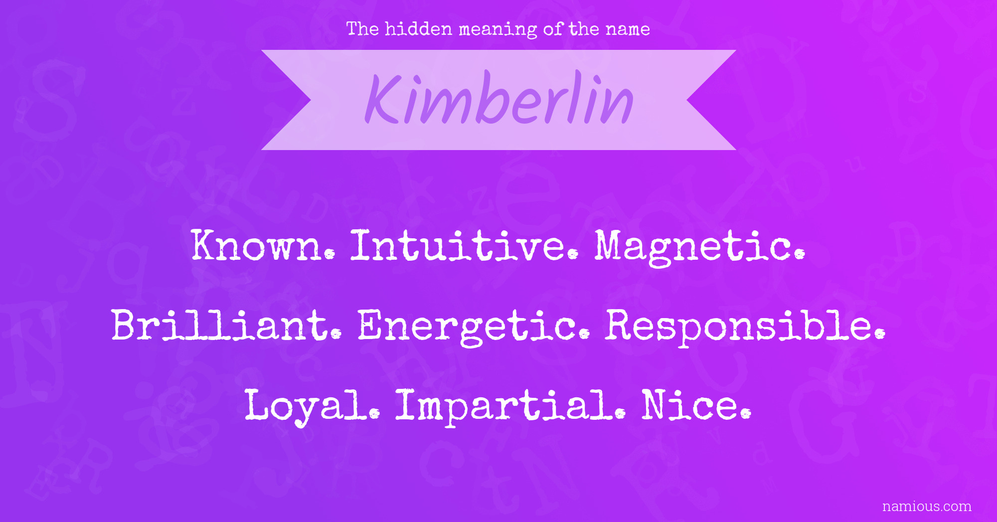 The hidden meaning of the name Kimberlin | Namious