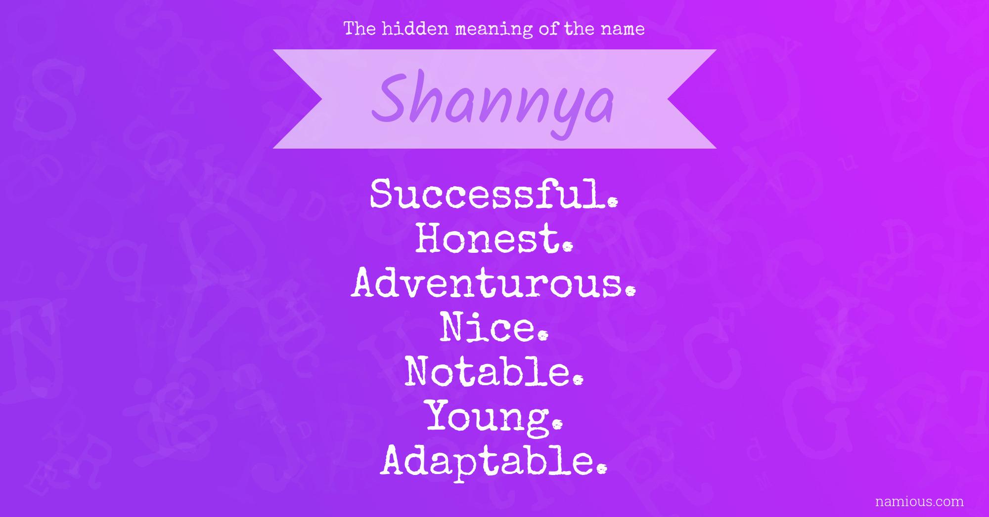 Shannya