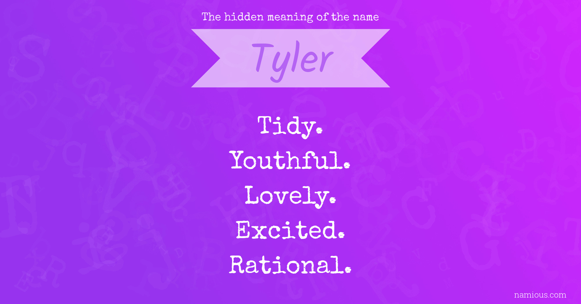 The hidden meaning of the name Tyler | Namious