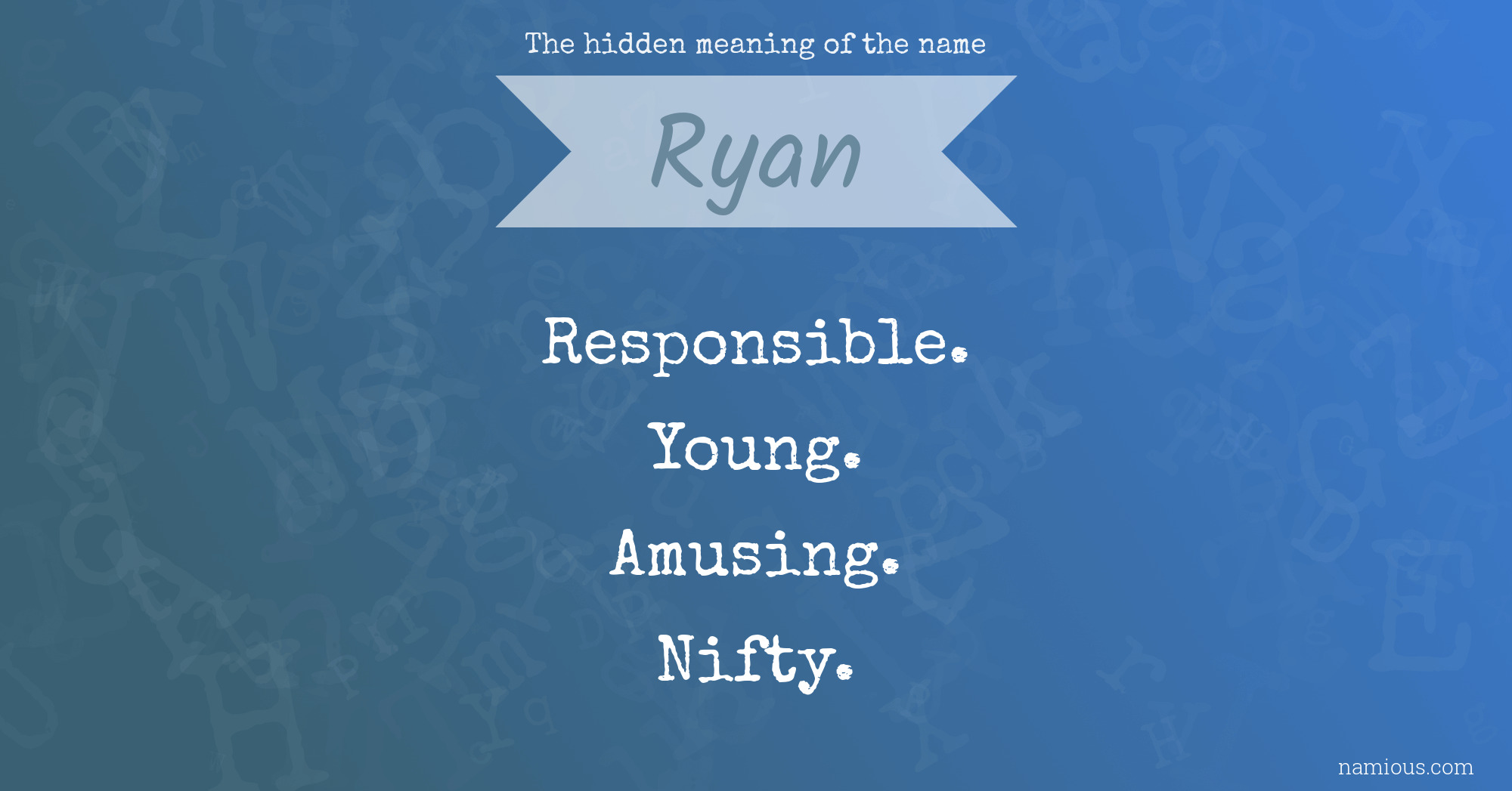 The hidden meaning of the name Ryan